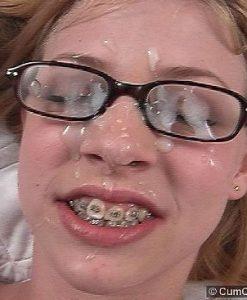 Cum Covered Glasses Leah Luv